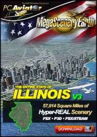 PC AVIATOR - MEGASCENERY EARTH V3 - ILLINOIS FSX P3D