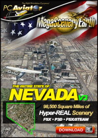 PC AVIATOR - MEGASCENERY EARTH V3 - NEVADA FSX P3D