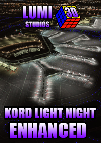 LUMI 3D STUDIOS - KORD - O´HARE INTERNATIONAL AIRPORT NIGHT LIGHT ENHANCED MSFS