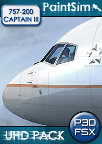 PAINTSIM - UHD TEXTURE PACK FOR CAPTAIN SIM BOEING 757-200 III FSX P3D