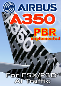 FSPXAI - AIRBUS A350XWB V2 FOR FSX/P3D AI-TRAFFIC