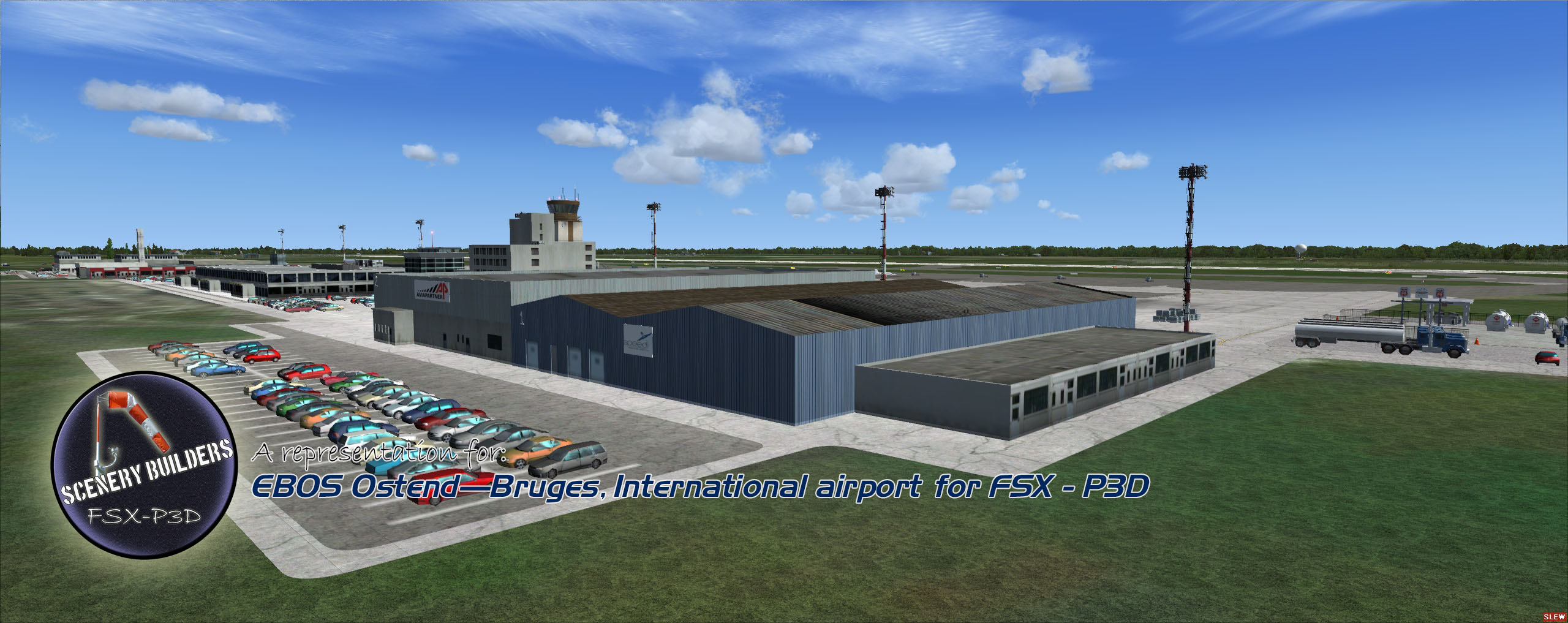 FSXCENERY - EBOS OSTEND–BRUGES INTERNATIONAL AIRPORT FSX P3D