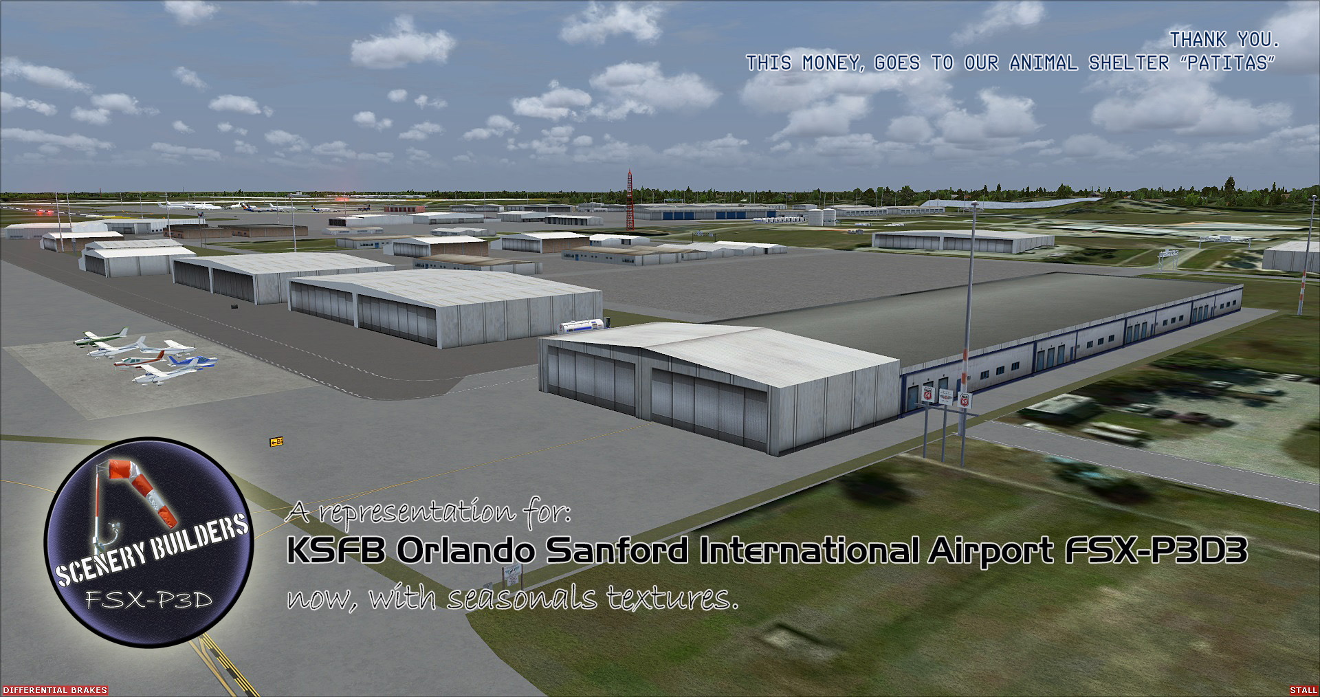 FSXCENERY -   KSFB ORLANDO SANFORD INTERNATIONAL AIRPORT  FSX P3D
