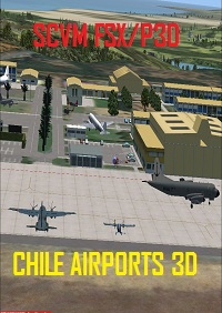CHILE AIRPORTS 3D - 智利-比尼亚德尔马机场 海空军基地 SCVM FSX P3D4