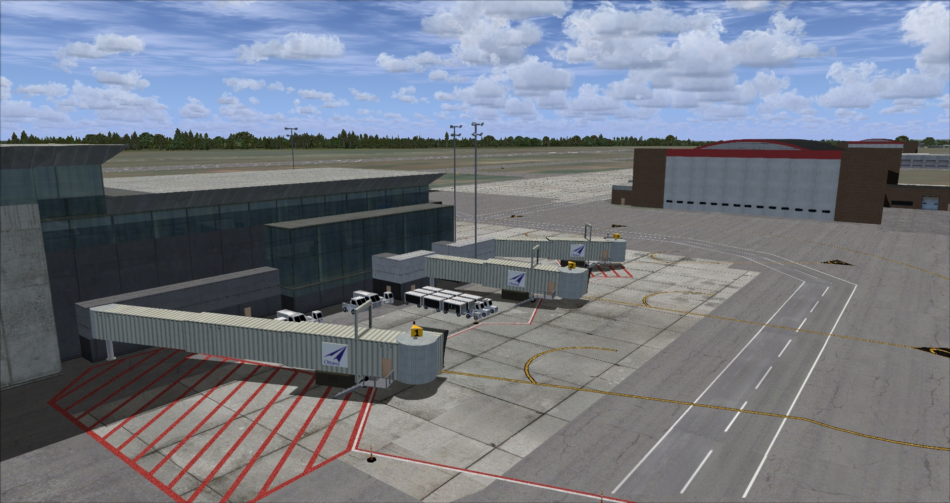 FINAL APPROACH SIMULATIONS - CYOW OTTAWA/MACDONALD-CARTIER INTERNATIONAL AIRPORT P3D4
