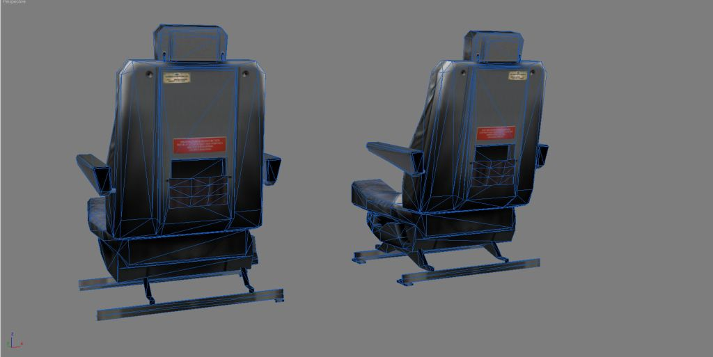 UTT - EMBRAER 170 CHAIR PACK SOURCE MODEL FOR 3DS MAX