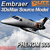 UTT - EMBRAER PHENOM 300 SOURCE MODEL FOR 3DS MAX