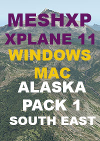 TABURET - MESHXP ALASKA PACK 1 SOUTH EAST FOR X-PLANE 11