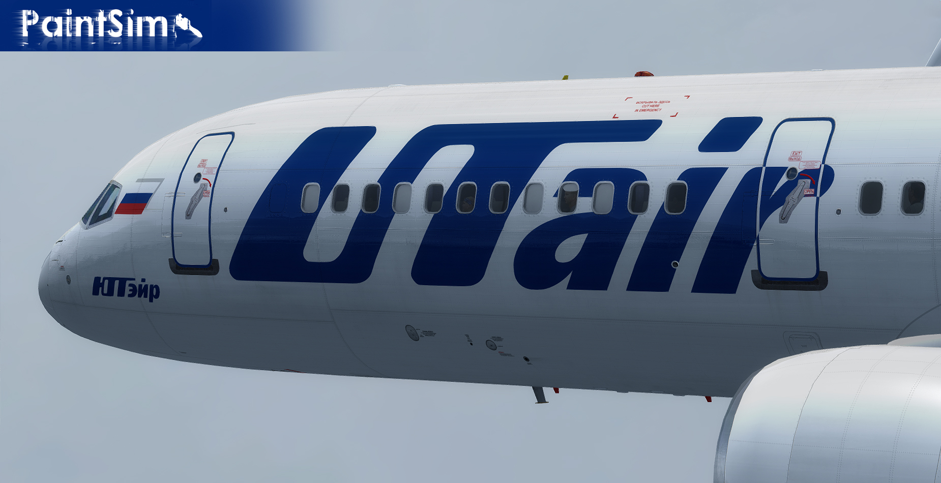 PAINTSIM - UHD TEXTURE PACK 4 FOR CAPTAIN SIM BOEING 757-200 III FSX P3D