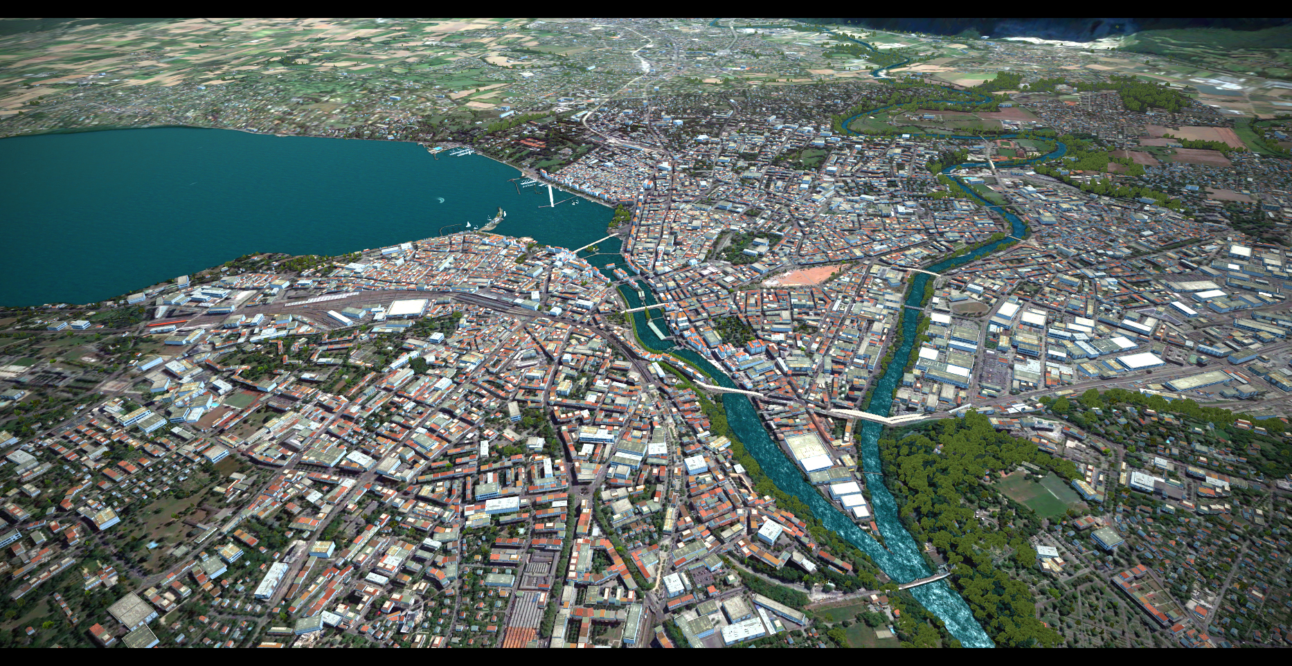 PREALSOFT - HD CITIES - GENEVA - AUTOGEN 3D OBJ  FSX P3D
