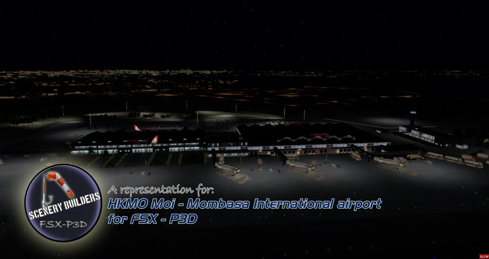 FSXCENERY - HKMO MOI INTERNATIONAL AIRPORT MOMBASA FSX P3D