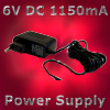 CP FLIGHT - 6V DC 1150mA POWER SUPPLY