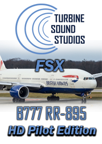 TURBINE SOUND STUDIOS - BOEING 777 ROLLS & ROYCE TRENT-895 PILOT EDITION SOUNDPACK FOR FSX P3D