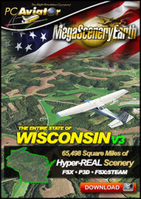 MEGASCENERYEARTH - PC AVIATOR - MEGASCENERY EARTH V3 - WISCONSIN FSX P3D