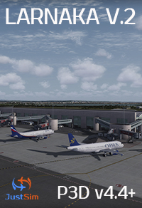 JUSTSIM - LARNACA INTERNATIONAL AIRPORT V2 - LCLK - P3D V4.4+