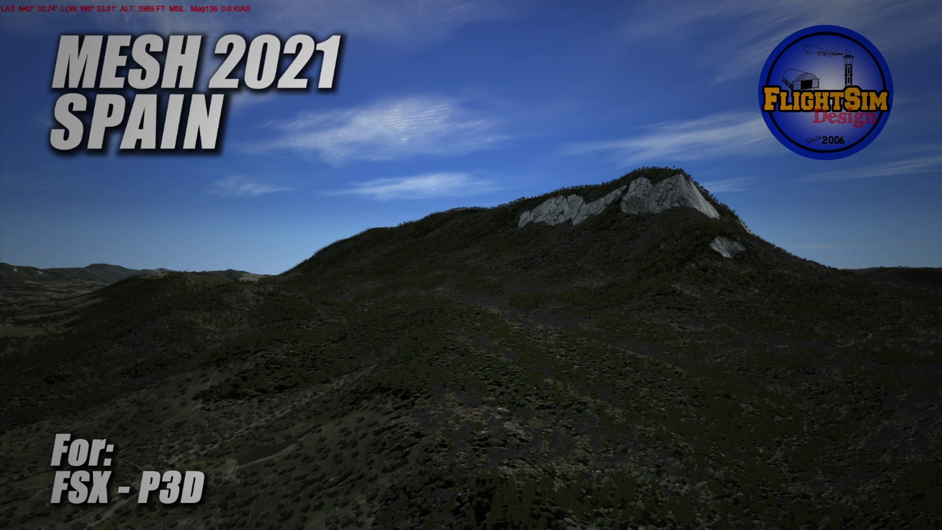 FLIGHTSIMDESIGN CHILE - MESH 2021 SPAIN PORTUGAL FSX P3D