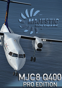 MAJESTIC SOFTWARE - DASH 8 Q400 PRO EDITION 冲8 Q400 涡桨支线客机 专业版 32位 FSX P3D