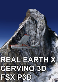 REAL EARTH X - CERVINO 3D FSX P3D