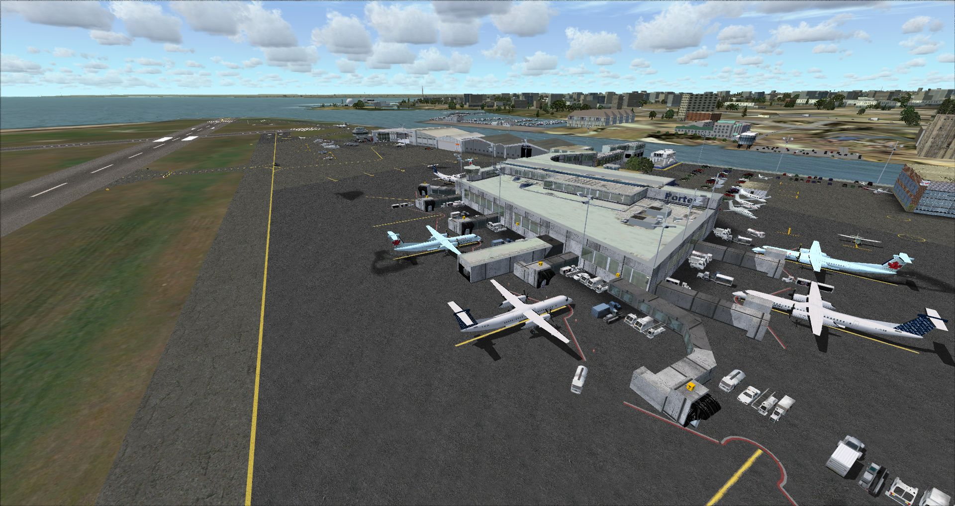 FINAL APPROACH SIMULATIONS - CYTZ TORONTO CITY AIRPORT P3DV1