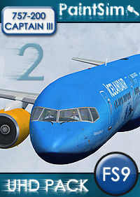 PAINTSIM - HD TEXTURE PACK 2 FOR CAPTAIN SIM BOEING 757-200 FS2004