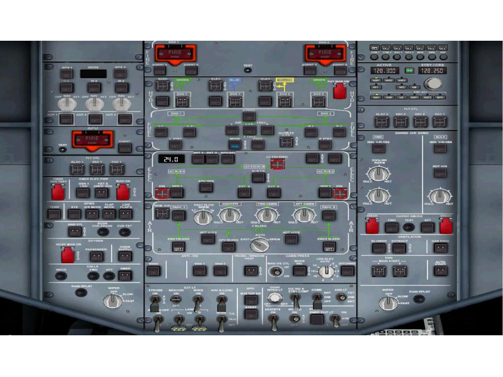 NPSIMPANELS -  AIRBUS PANELS A330/A340-2/300 A340-600 DELUXE