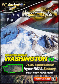 PC AVIATOR - MEGASCENERY EARTH V3 - WASHINGTON FSX P3D