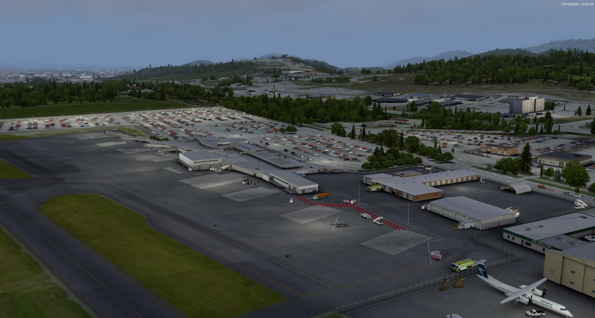 FSIMSTUDIOS - KELOWNA INTERNATIONAL AIRPORT CYLW P3DV4.4+
