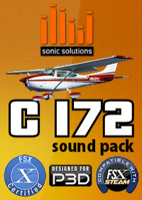SONIC SOLUTIONS - CESSNA 172 SOUND PACK V2 FSX P3D