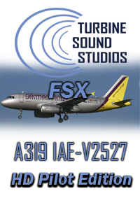 TURBINE SOUND STUDIOS - AIRBUS A319 HD IAE-V2527 PILOT EDITION SOUNDPACK FSX