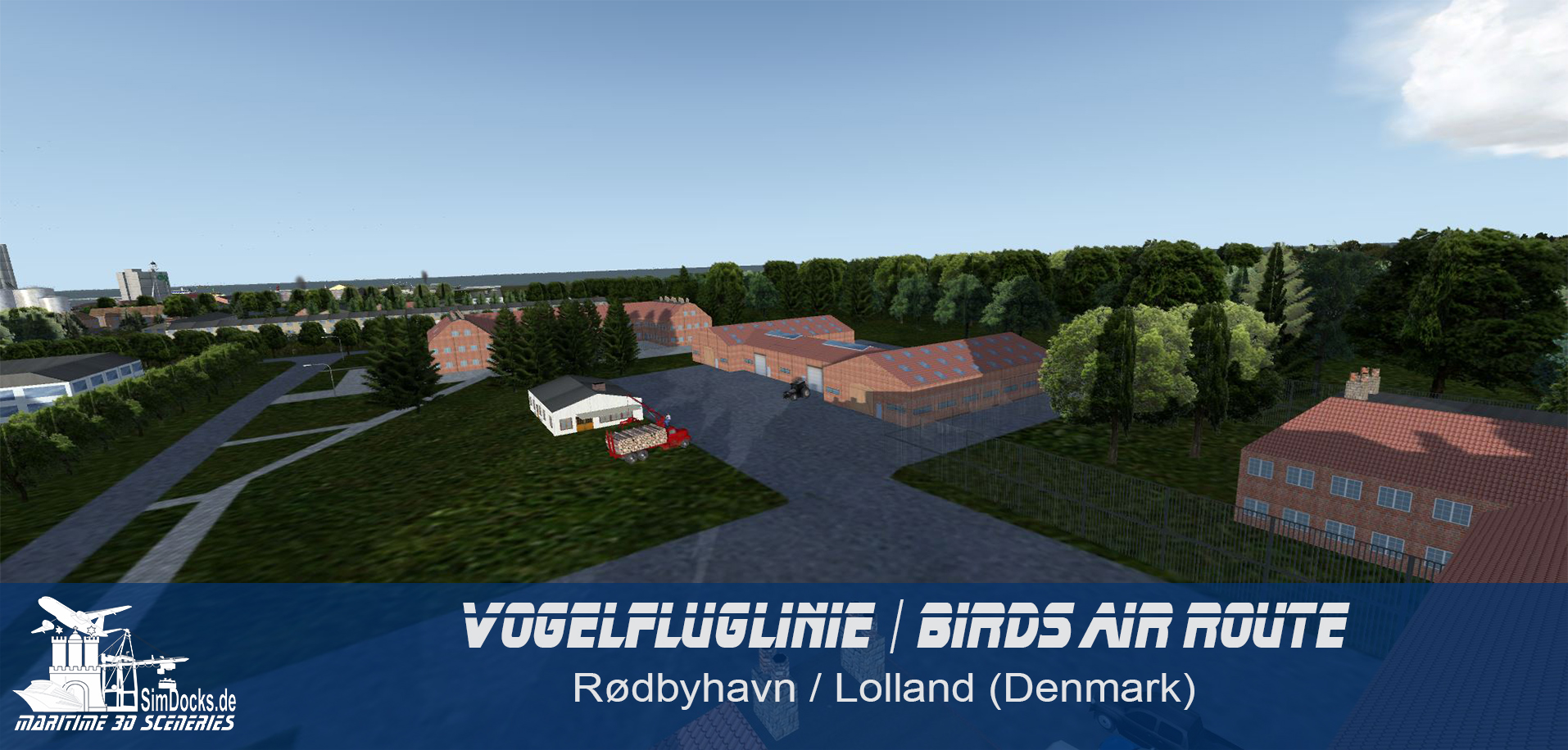SIMDOCKS.DE - BIRDS AIR ROUTE FROM PUTTGARDEN TO RODBYHAVN (+EKMB)