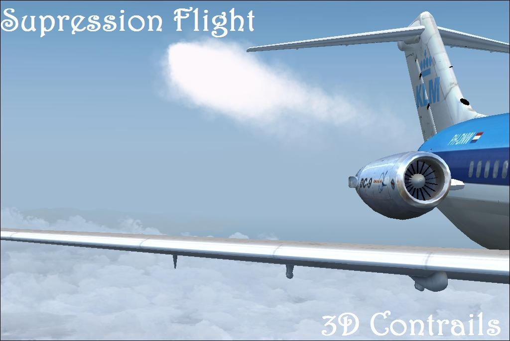 SUPRESSION FLIGHT - 3D CONTRAILS