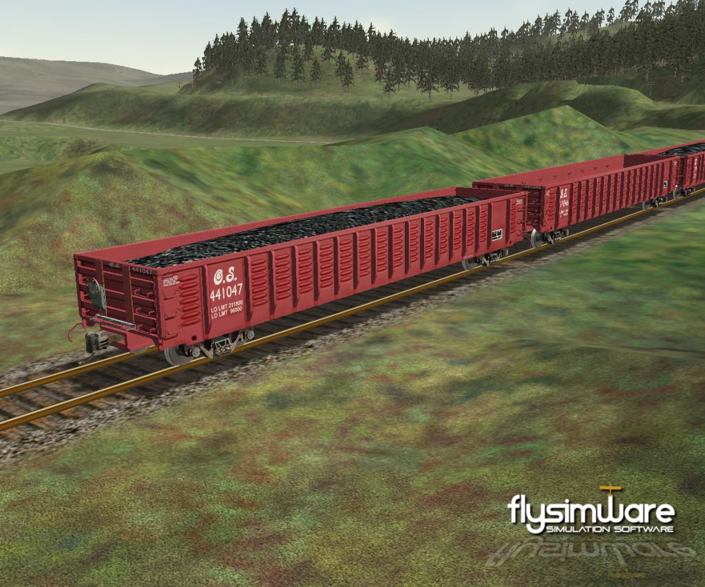 FLYSIMWARE - GONDOLA RAILCAR SET FOR MSTS