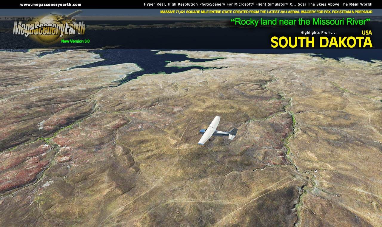 MEGASCENERYEARTH - SOUTH DAKOTA V3 FSX P3D