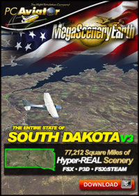 MEGASCENERYEARTH - PC AVIATOR - MEGASCENERY EARTH V3 - SOUTH DAKOTA FSX P3D