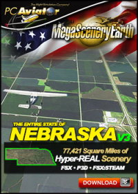 MEGASCENERYEARTH - PC AVIATOR - MEGASCENERY EARTH V3 - NEBRASKA FSX P3D