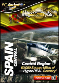 PC AVIATOR - MEGASCENERY EARTH - SPAIN CENTRAL FSX P3D
