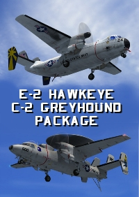 INDIAFOXTECHO VISUAL SIMULATIONS - E-2 HAWKEYE - C-2 GREYHOUND PACKAGE