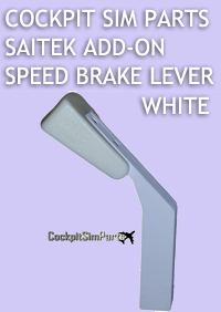 COCKPIT SIM PARTS - SAITEK ADD-ON SPEED BRAKE LEVER WHITE