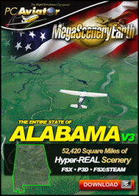 PC AVIATOR - MEGASCENERY EARTH V3 - ALABAMA FSX P3D