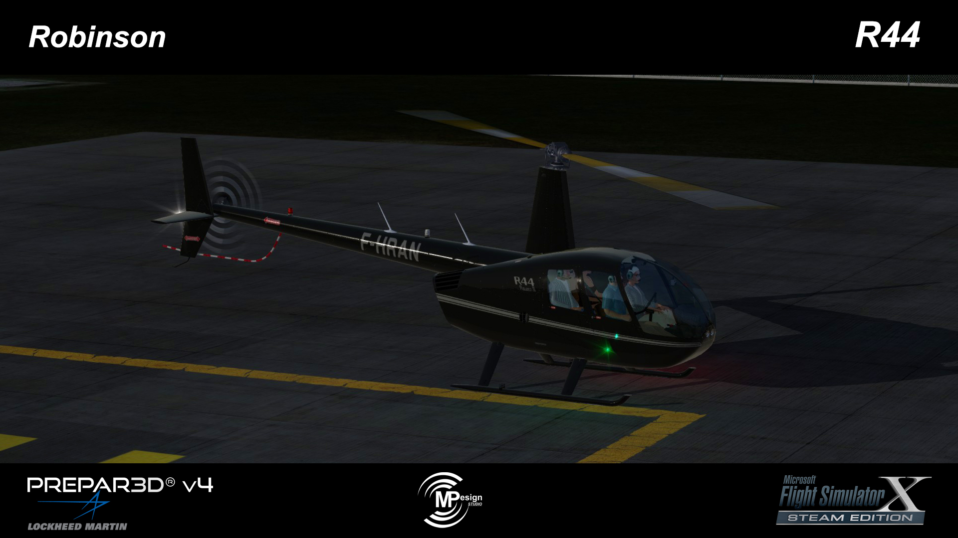 MP DESIGN STUDIO - ROBINSON R44 FSX P3D