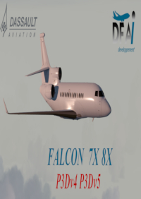 DFAI DEVELOPPEMENT - FALCON 7X AND FALCON 8X P3D4-5