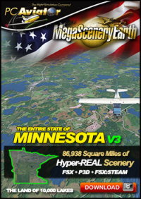 MEGASCENERYEARTH - PC AVIATOR - MEGASCENERY EARTH V3 - MINNESOTA FSX P3D