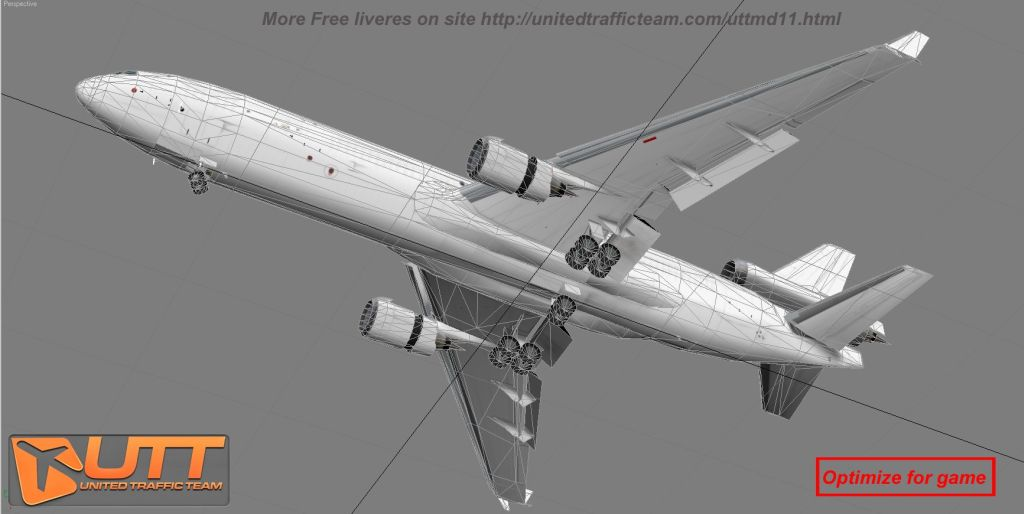UTT - MC DONNELL DOUGLAS MD-11 SOURCE MODEL FOR 3DS MAX