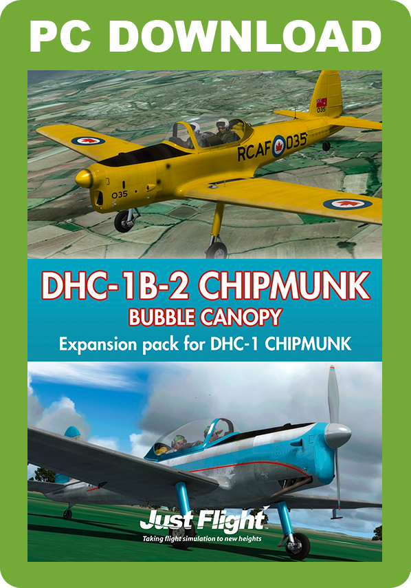 JUSTFLIGHT - DHC-1B-2 CHIPMUNK 'BUBBLE CANOPY'