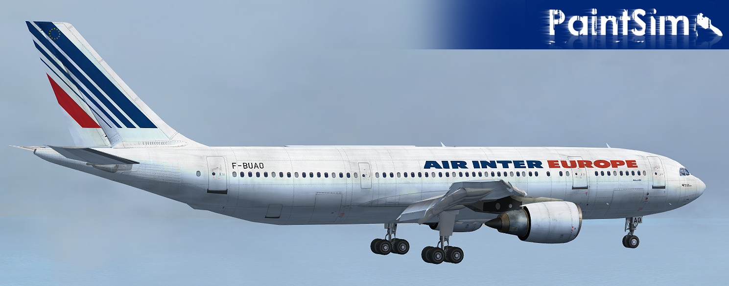 PAINTSIM - HD TEXTURE PACK 7 FOR SIMCHECK AIRBUS A300B4-200 FSX