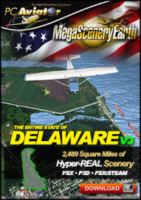 PC AVIATOR - MEGASCENERY EARTH V3 - DELAWARE FSX P3D
