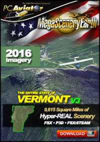 PC AVIATOR - MEGASCENERY EARTH V3 - VERMONT FSX P3D