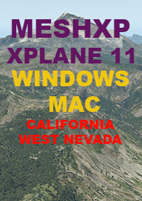 TABURET - MESHXP - CALIFORNIA - WEST NEVADA FOR X-PLANE 11