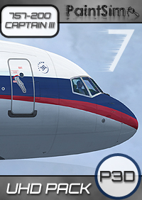 PAINTSIM - UHD TEXTURE PACK 7 FOR CAPTAIN SIM BOEING 757-200 III P3D V4