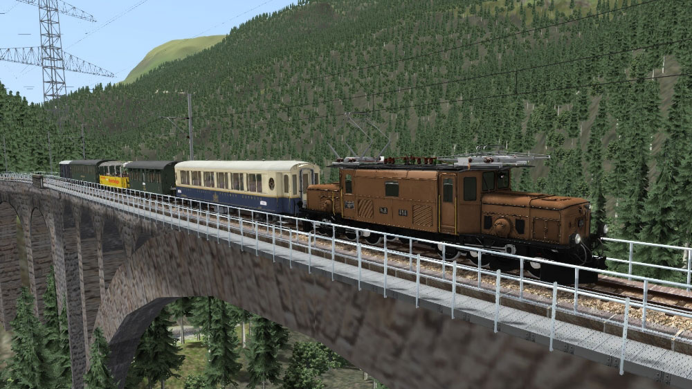 AEROSOFT - RHB CROCODILE GE 6/6 I TRAIN